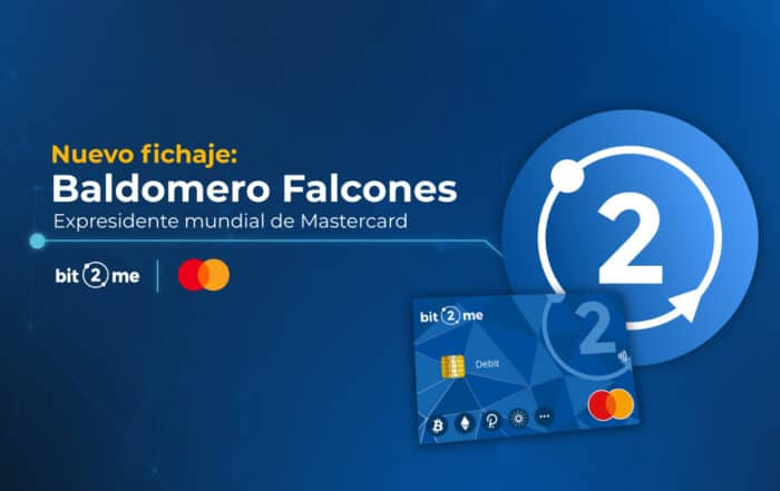 Baldomero Falcones, expresidente mundial de Mastercard, ficha por la empresa española de criptomonedas Bit2Me